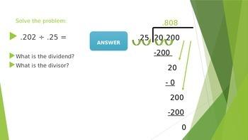 Dividing Decimals Practice Problems