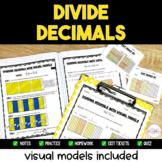 Dividing Decimals Printable Resource Pack {Visual Models I
