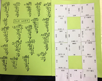 Dividing Decimals Puzzle
