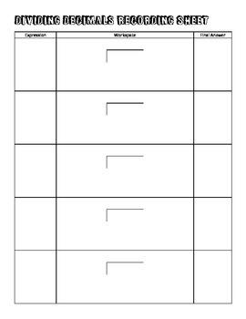 Dividing Decimals Puzzle Practice (Texas SE 7.3B and 6.3E)