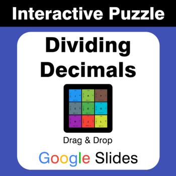 Dividing Decimals - Puzzles with GOOGLE Slides