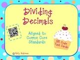 Dividing Decimals QR Code Task Cards
