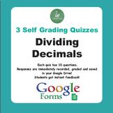 Dividing Decimals Quiz  (Google Forms)