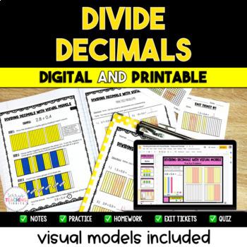 Dividing Decimals Resource Pack {Visual Models Included}