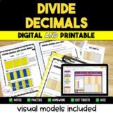 Dividing Decimals Digital and Printable Bundle {Visual Mod