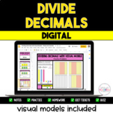 Dividing Decimals Resource Pack - Visual Models Included {