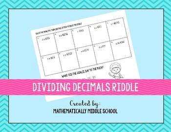 Dividing Decimals Riddle