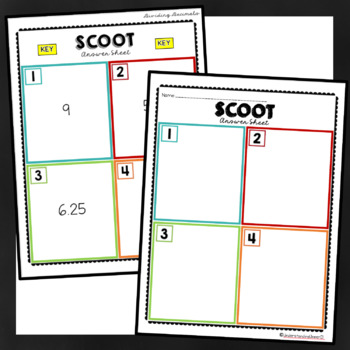 Dividing Decimals SCOOT activity - with AND without QR Codes!