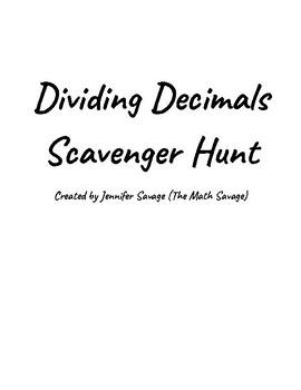 Dividing Decimals Scavenger Hunt!