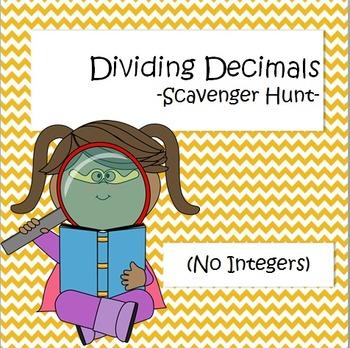 Dividing Decimals - Scavenger Hunt