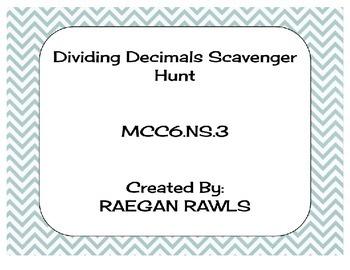Dividing Decimals Scavenger Hunt