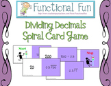 Dividing Decimals Spiral Card Game