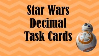 Dividing Decimals Star Wars Task Cards