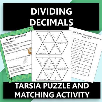 Dividing Decimals Tarsia Puzzle OR Matching Activity