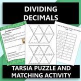 Dividing Decimals Tarsia Puzzle OR Matching Activity