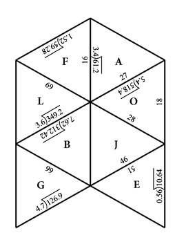 Dividing Decimals Tarsia Puzzle