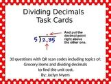 Dividing Decimals Task Cards with QR Codes