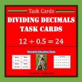 Dividing Decimals Task Cards (32) 5.NBT.7