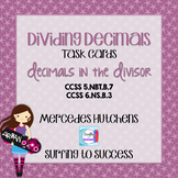 Dividing Decimals Task Cards Decimals in the Divisor