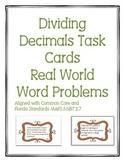 Dividing Decimals Task Cards Word Problems