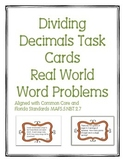 Dividing Decimals Task Cards Word Problems