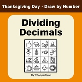 Thanksgiving Math: Dividing Decimals - Math & Art - Draw b