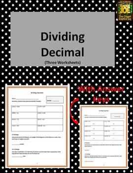 Dividing Decimals (Three Worksheets)