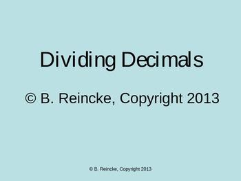 Dividing Decimals TurningPoint Clicker Presentation
