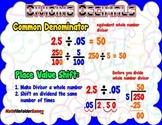 Dividing Decimals (Using Common Denominator Place Value) = Poster/Anchor Chart