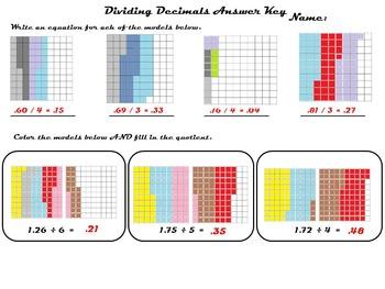 Dividing Decimals Using Models