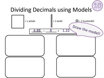 Dividing Decimals Using Models Activity Mats 5.3F 5.NBT.B.7