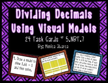 Dividing Decimals Using Visual Models - 5.NBT.7