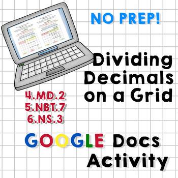 Dividing Decimals Using a Grid for Organization - Google Docs Activity, No Prep