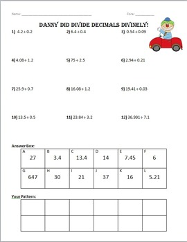 Dividing Decimals - Versatiles by Amy Skinner | Teachers Pay Teachers