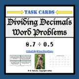 Dividing Decimals Word Problem Task Cards
