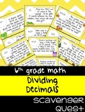 Dividing Decimals Word Problems - Math Scavenger Quest
