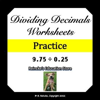 Dividing Decimals Worksheets (3 worksheets)