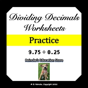 Dividing Decimals Worksheets (3 worksheets)