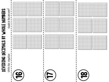 Dividing Decimals: Workstations & QR Codes for Upper Elementary