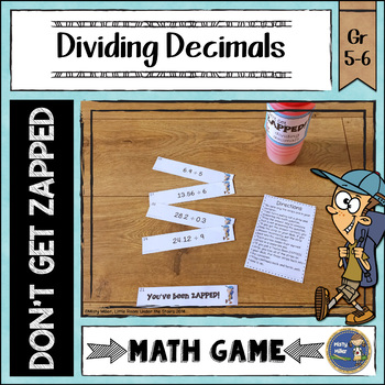 Dividing Decimals Don't Get ZAPPED Math Game