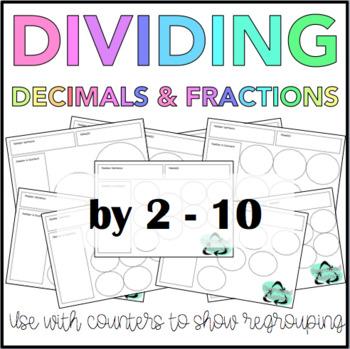 Dividing Decimals and Fractions Mats