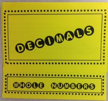 Dividing Decimals and Whole Numbers Foldable