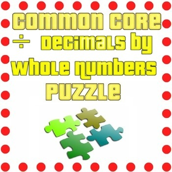 Dividing Decimals and Whole Numbers Puzzle
