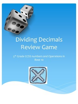Dividing Decimals and Whole Numbers Review Game