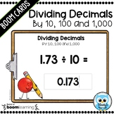 Dividing Decimals by 10, 100 and 1,000 Digital Task Cards