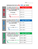 Dividing Decimals by 10, 100, and 1000  (5.NBT.A.2)