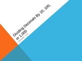 Dividing Decimals by 10, 100, or 1,000 (5th Grade EnVision