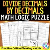 Dividing Decimals Activity: Math Logic Puzzle for 5.NBT.7 and 6.NS.3