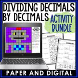 Dividing Decimals by Decimals Activity Pack 6.NS.B.3