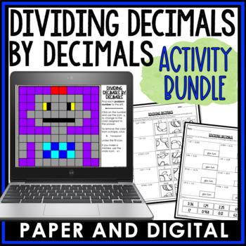 Dividing Decimals by Decimals Activity Pack